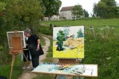 Les peintres d'Argenteuil à Rhus juillet 2007 -14