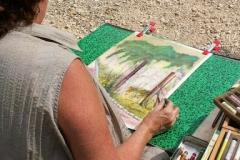 Les peintres d'Argenteuil à Rhus juillet 2007 -8